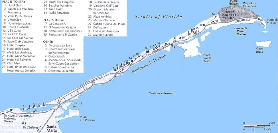 Karte Kuba Varadero.Cuba Varadero
