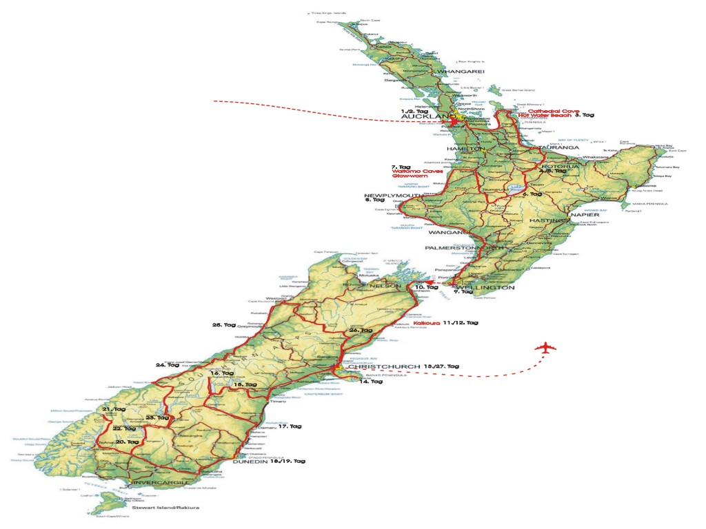 New Zealand South Island Fault Lines Map